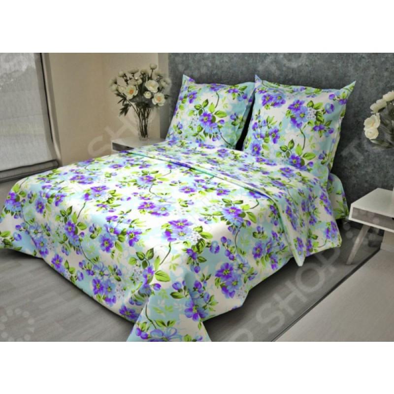 Комплект постельного белья Fiorelly «Яблоневый цвет голубой». Евро