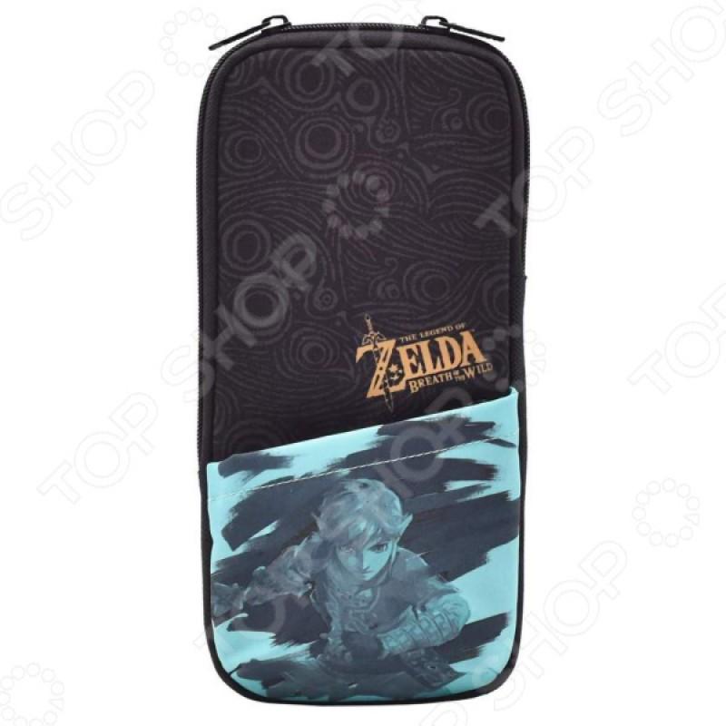Чехол защитный HORI Slim pouch. Zelda: Breath of the wild для Nintendo Switch