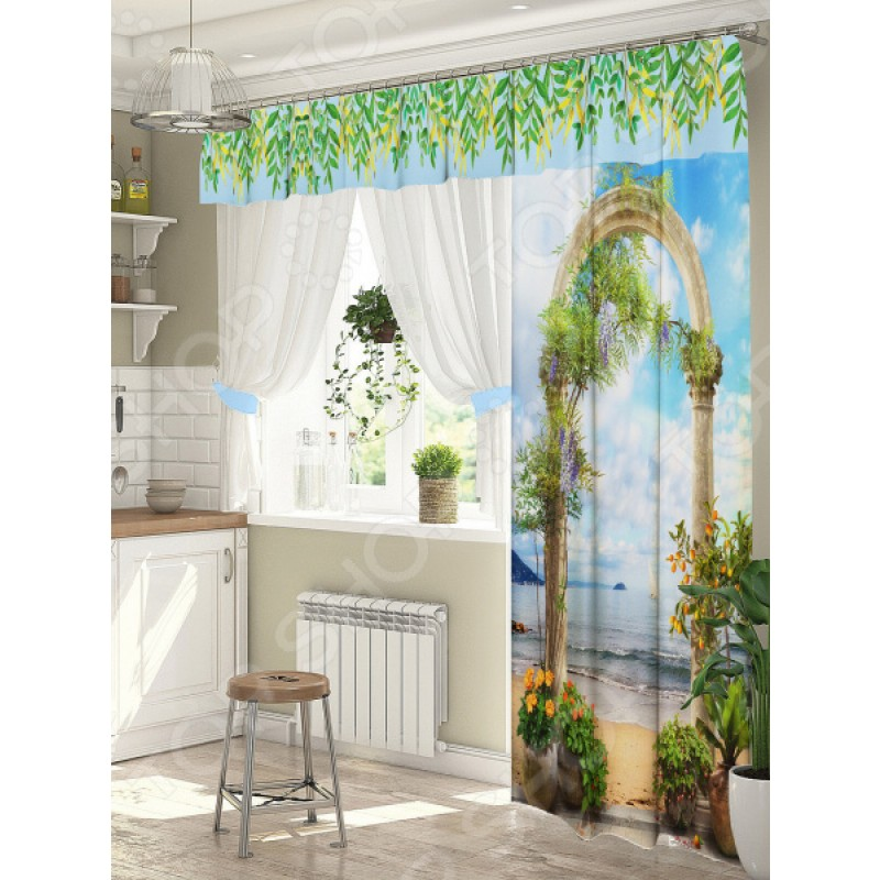Комплект штор для окна с балконом ТамиТекс «Подъем»