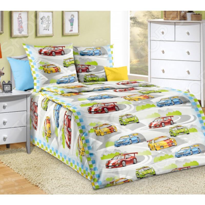 Детский комплект постельного белья ТексДизайн «Гонки»