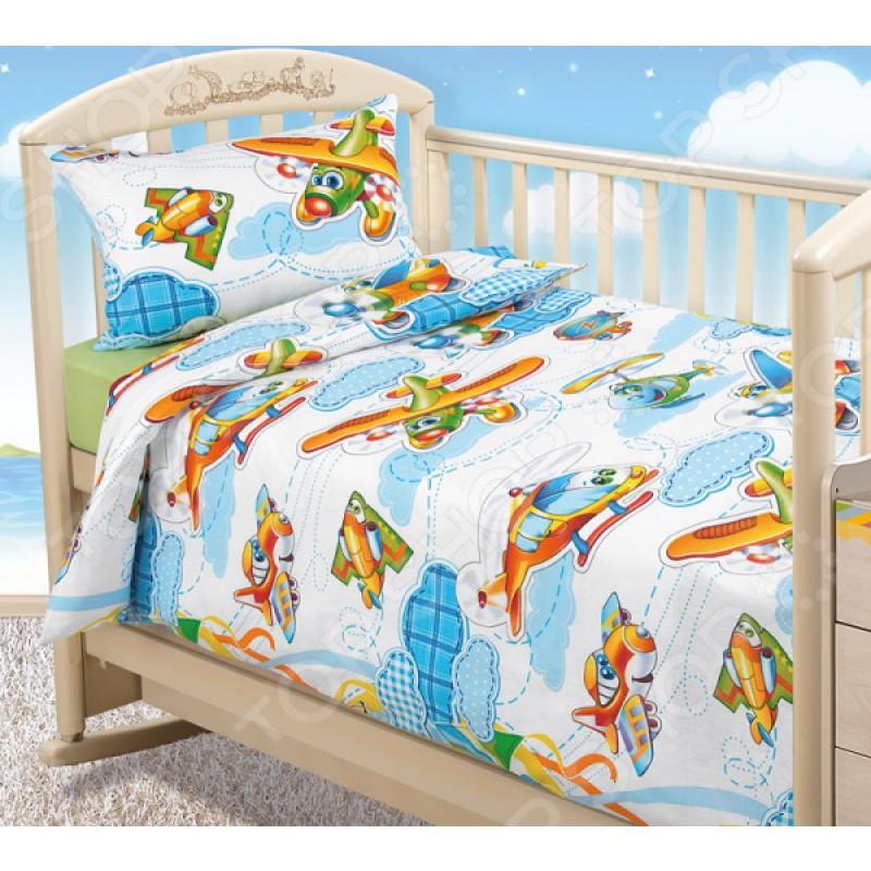 Ясельный комплект постельного белья ТексДизайн «От винта!»