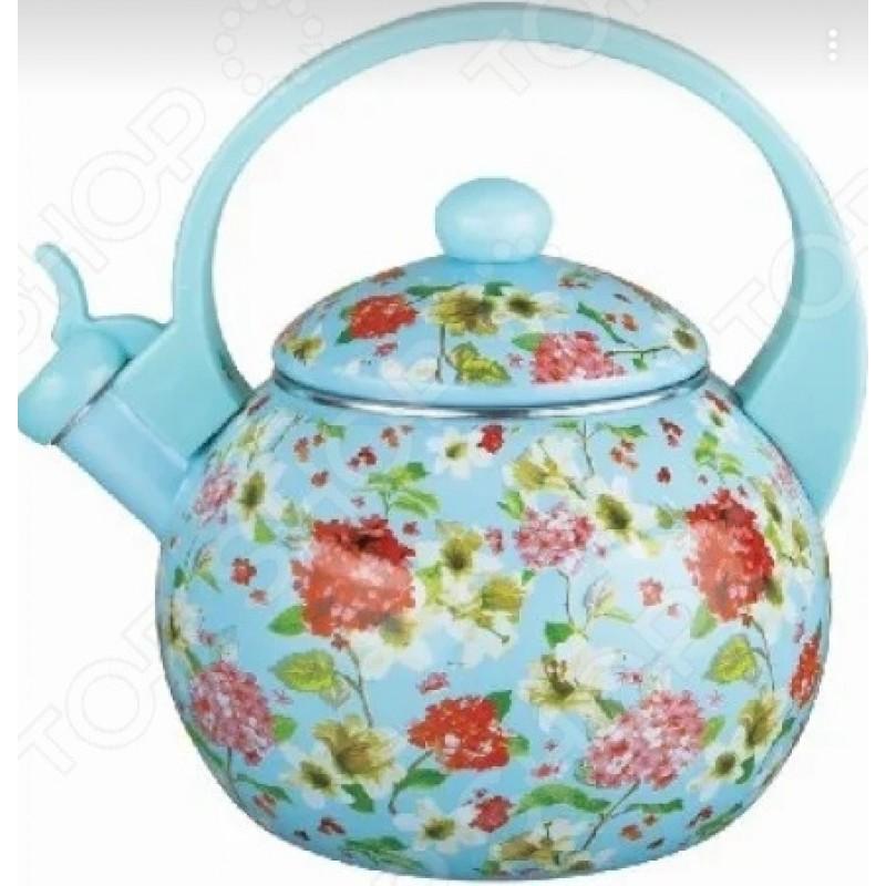 Чайник эмалированный Kelli KL-4455 «Флоксы»