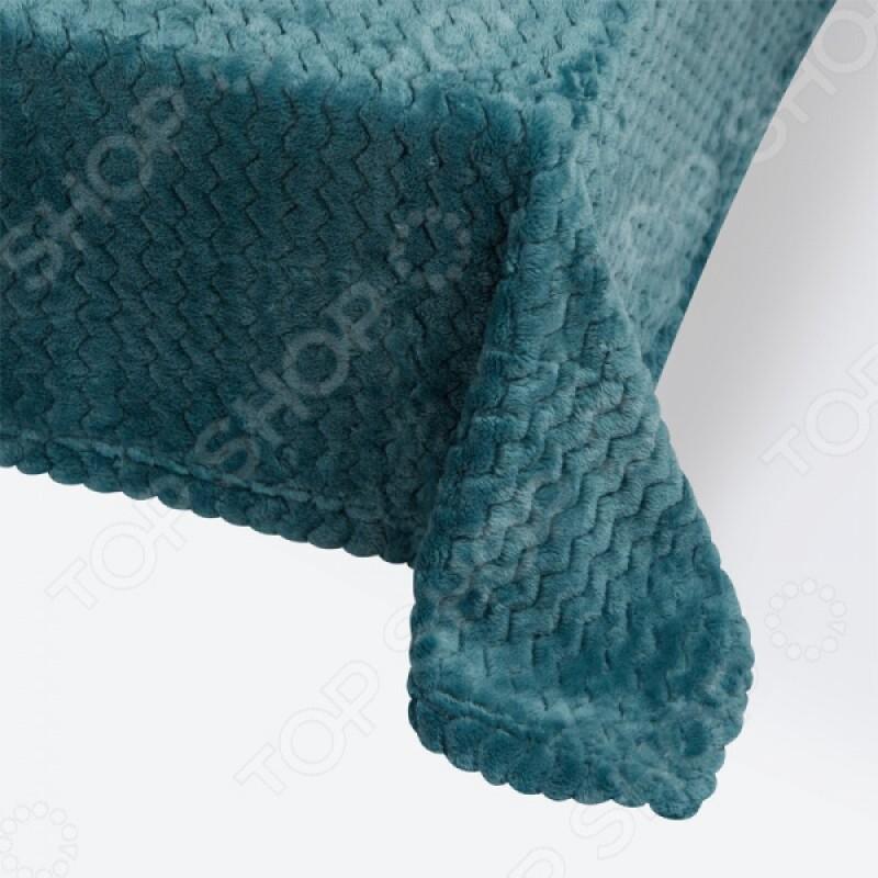 Плед Ecotex Modern. Цвет: бирюзовый
