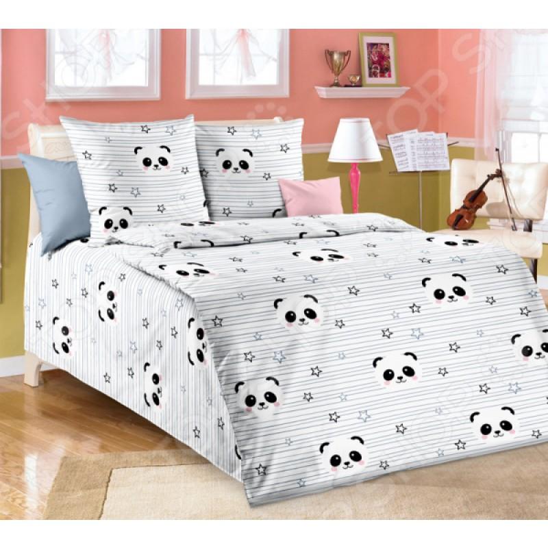 Детский комплект постельного белья ТексДизайн «Бамбуковый мишка». 1,5-спальный