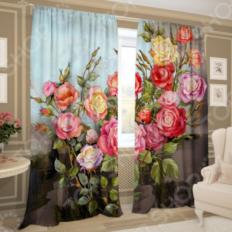 Комплект фотоштор ТамиТекс «Кустовые розы»
