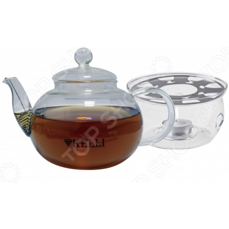 Чайник заварочный на подставке Kelli KL-3091