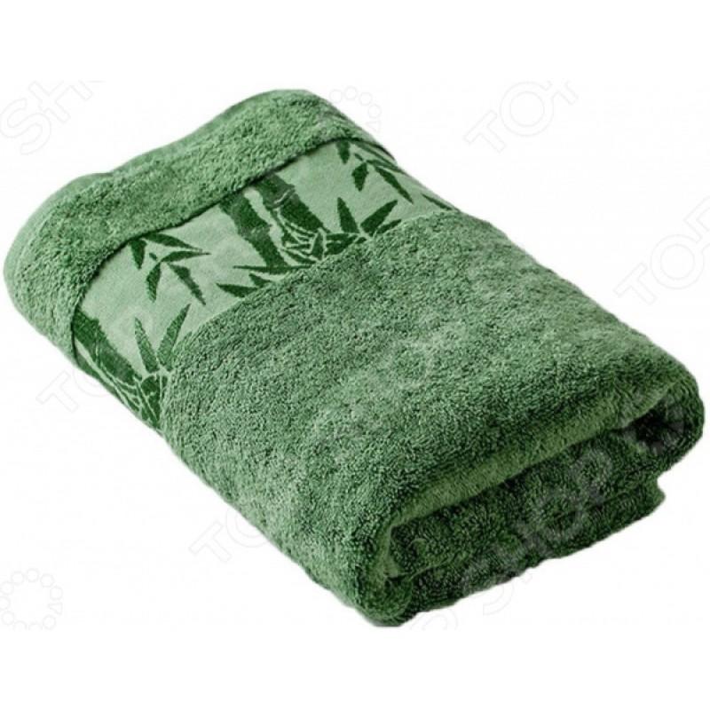 Полотенце махровое Ecotex «Бамбук». Цвет: зеленый