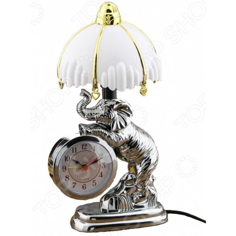 Часы-светильник «Добрый Слон»