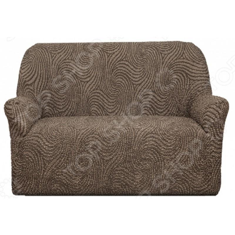 Натяжной чехол на двухместный диван Еврочехол «Этна. Сицилия»