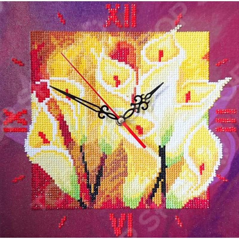 Часы из алмазной мозаики Color Kit «Семейное счастье»