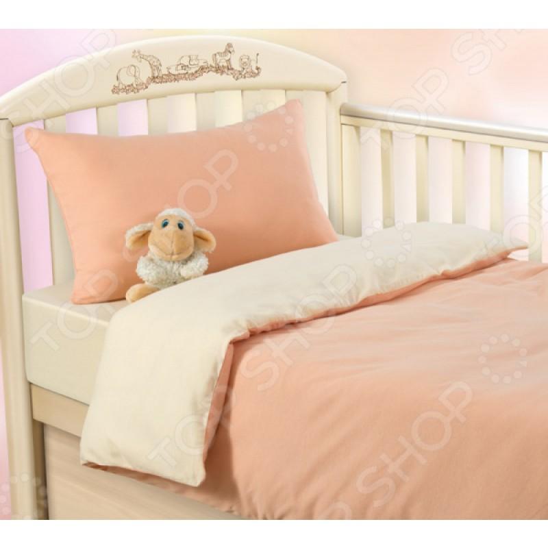 Ясельный комплект постельного белья ТексДизайн «Нежный персик»