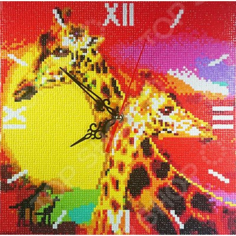 Часы из алмазной мозаики Color Kit «Знойная Африка»
