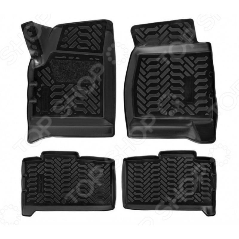 Набор ковриков в салон 3D с подпятником Airline УАЗ «Патриот»