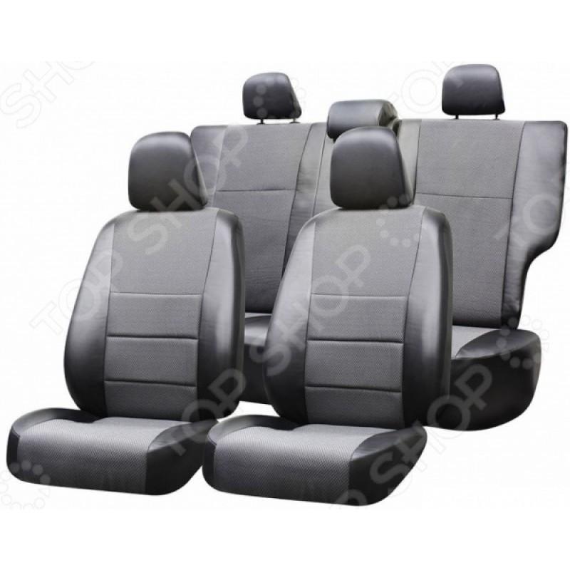 Набор чехлов для сидений Defly Renault Logan, 2014, экокожа