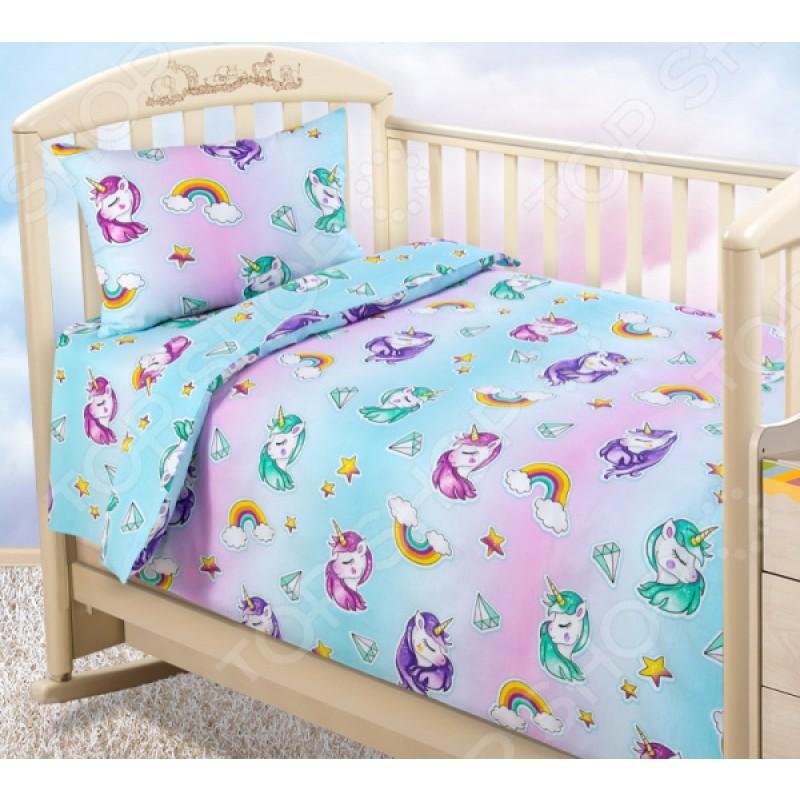 Ясельный комплект постельного белья ТексДизайн «Млечный путь»