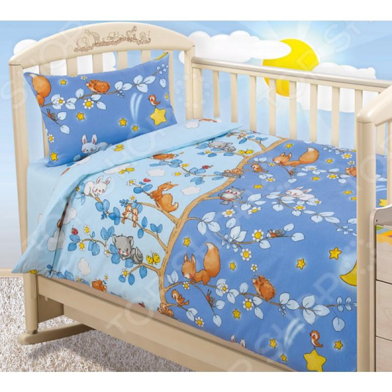 Ясельный комплект постельного белья Бамбино «День и ночь»