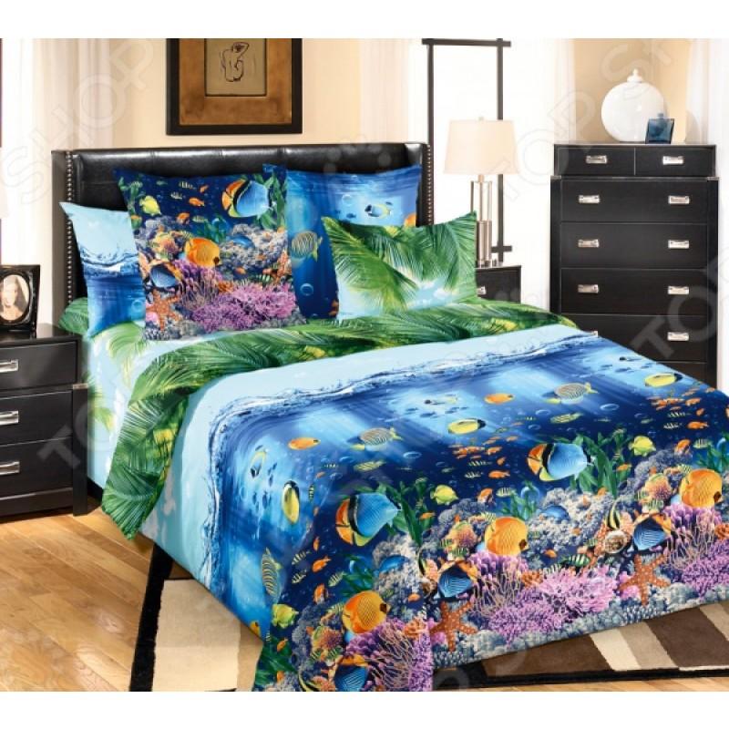 Комплект постельного белья Белиссимо «Подводный мир». 2-спальный