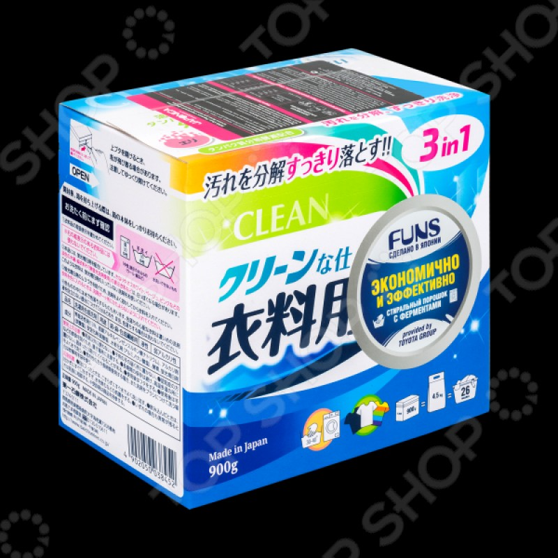 Японский стиральный порошок FUNS «Белая сакура» 900г
