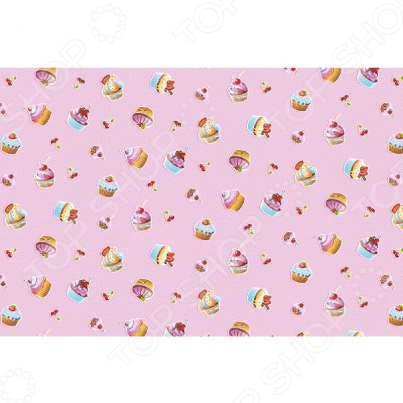 Полотенце банное вафельное ТексДизайн «Сластена и пирожные»