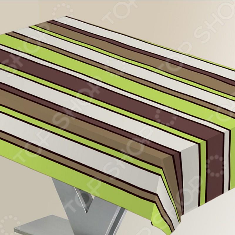 Скатерть Protec Textil «Линии». Цвет: зеленый