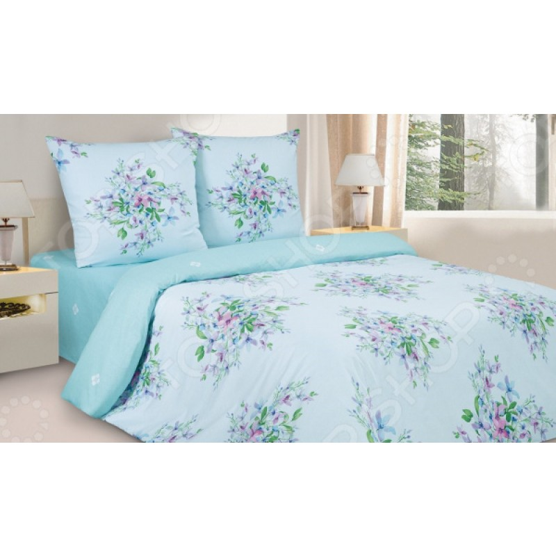 Комплект постельного белья Ecotex «Фиалки Монмартра»