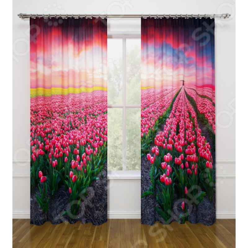 Фотошторы Стильный дом «Поле тюльпанов»