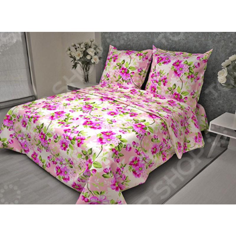 Комплект постельного белья Fiorelly «Яблоневый цвет розовый». Евро