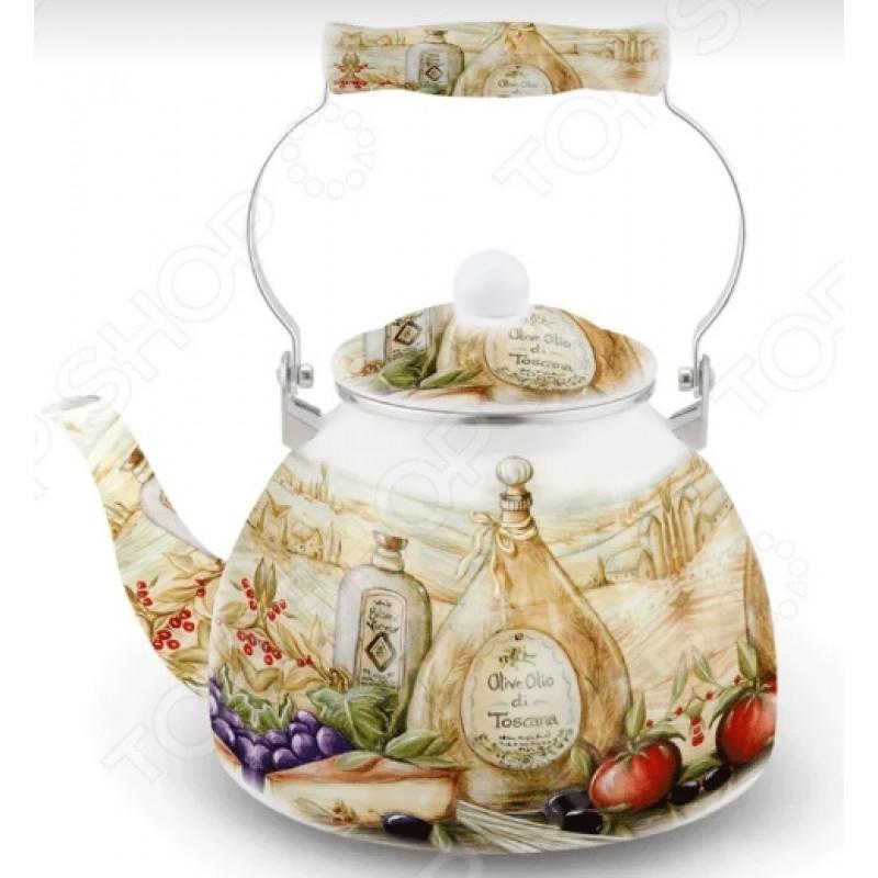 Чайник эмалированный Kelli KL-4419 «Прованс»