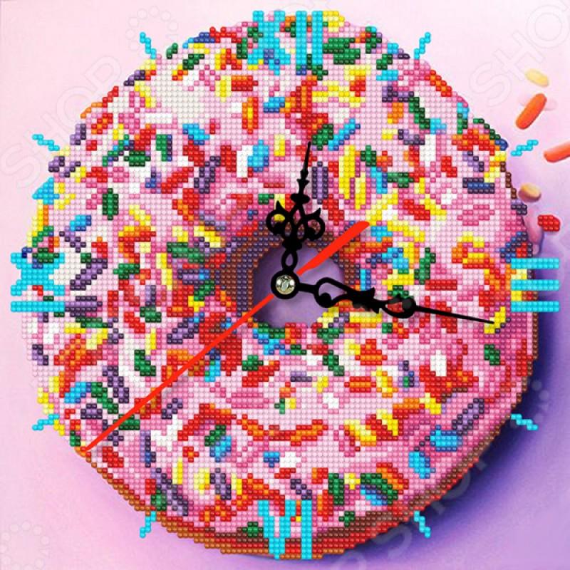 Часы из алмазной мозаики Color Kit «Сладкое искушение»