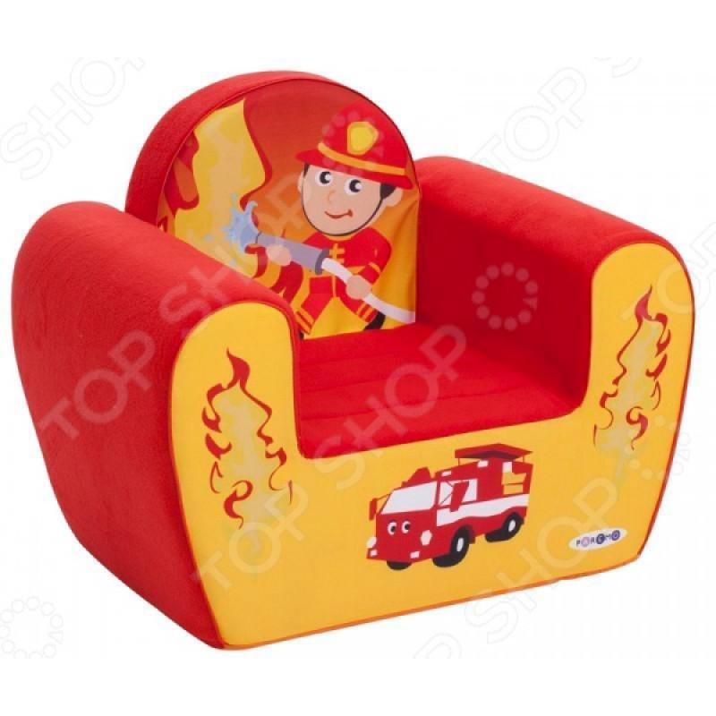 Кресло детское игровое PAREMO «Пожарный»