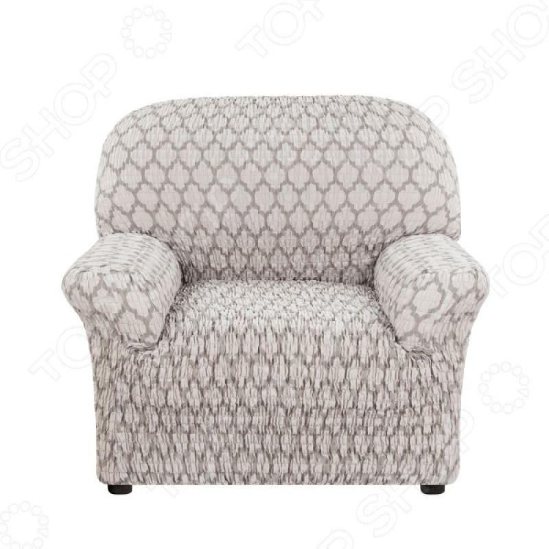 Натяжной чехол на кресло Еврочехол «Сиена Ластра»