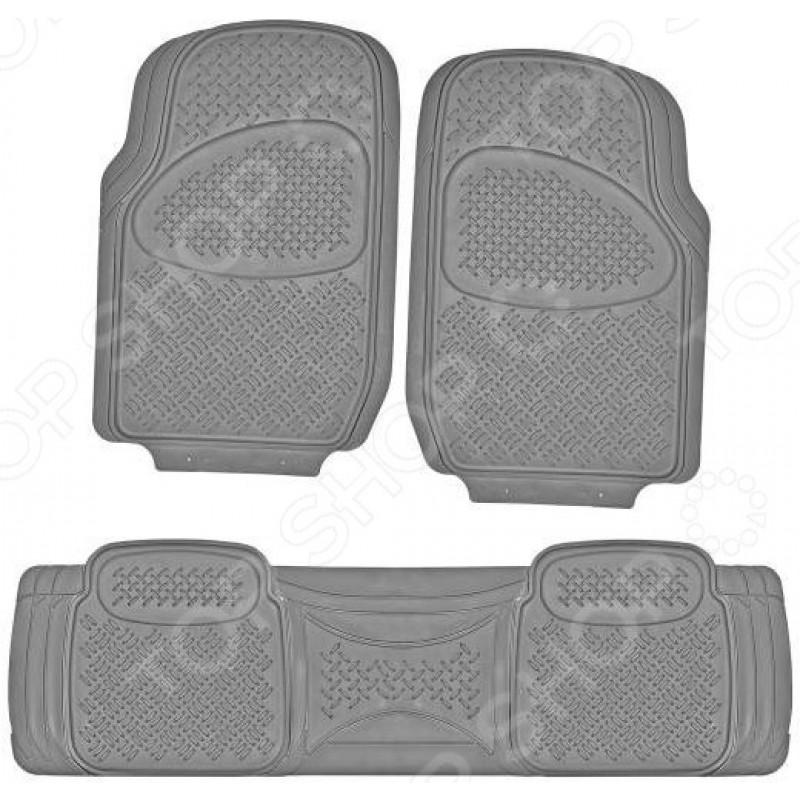 Комплект из 3-х ковриков в салон автомобиля SKYWAY Hot-3