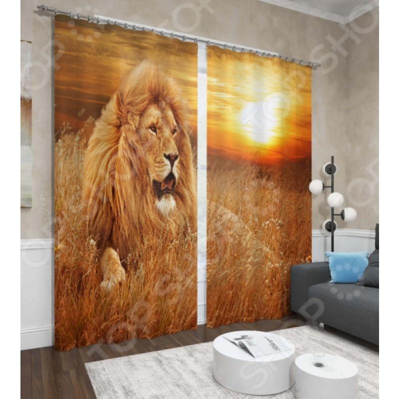 Фотошторы Сирень «Король лев»