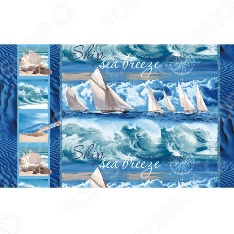 Полотенце банное вафельное ТексДизайн «Морской бриз»