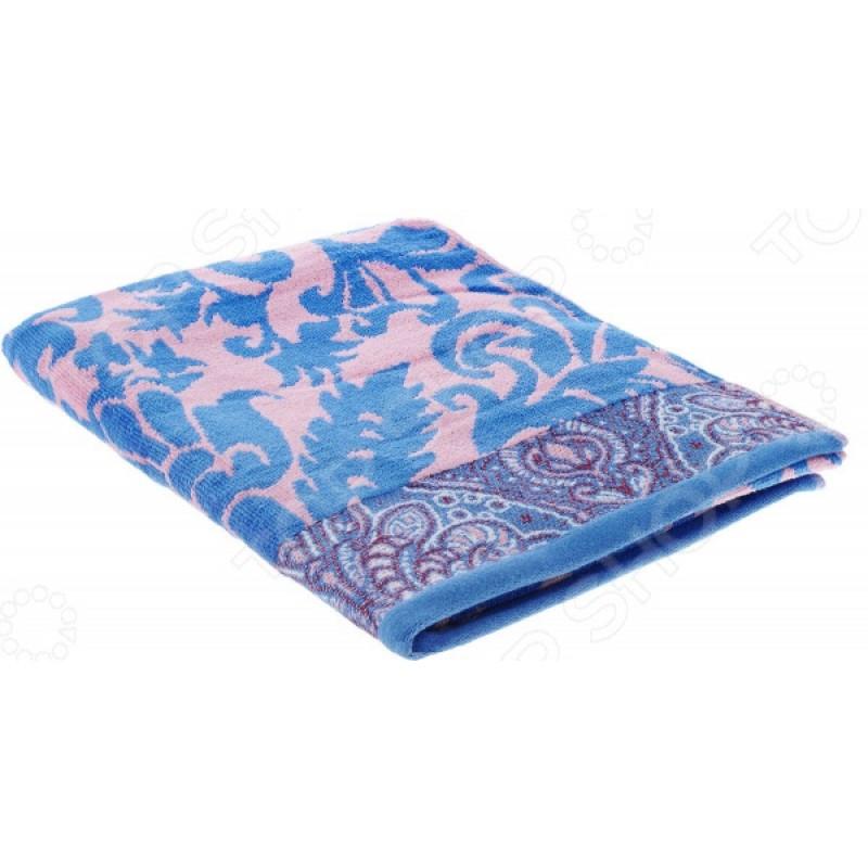 Полотенце велюровое Guten Morgen «Гоа». Цвет: розовый, синий