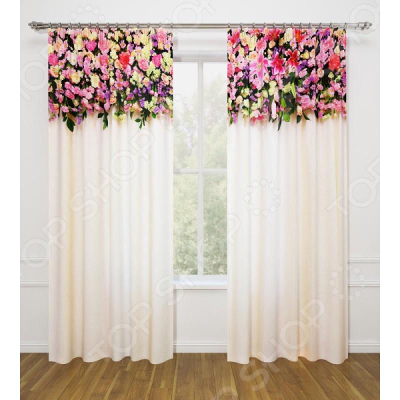 Фотошторы Стильный дом «Розовая композиция»