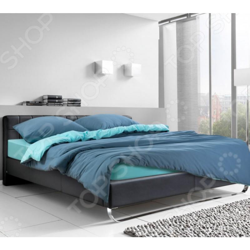 Комплект постельного белья ТексДизайн «Морская лагуна». Цвет: бирюзовый. Евро