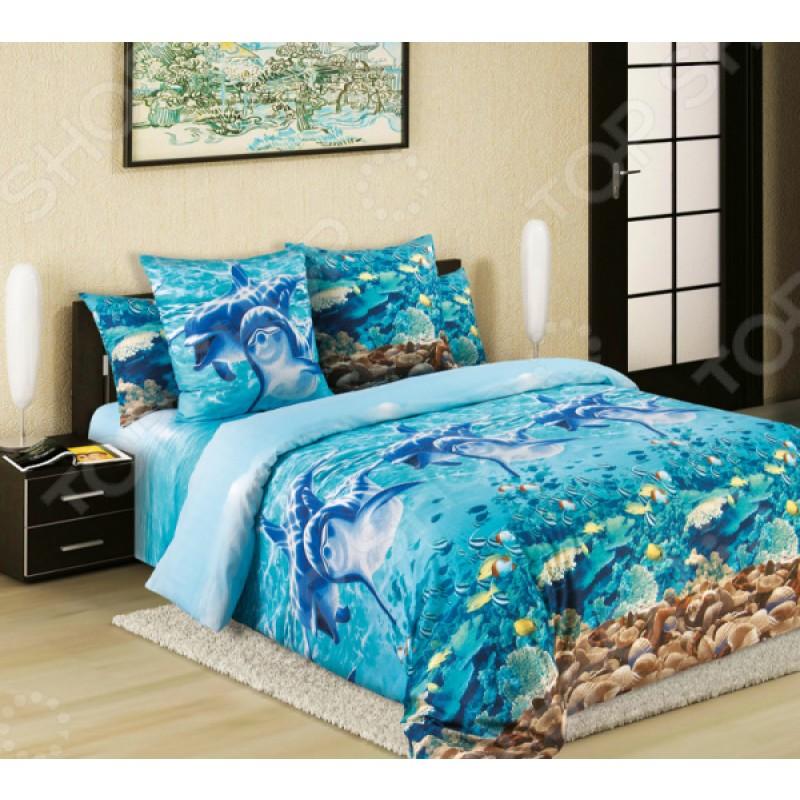 Комплект постельного белья Королевское Искушение «Дельфины»