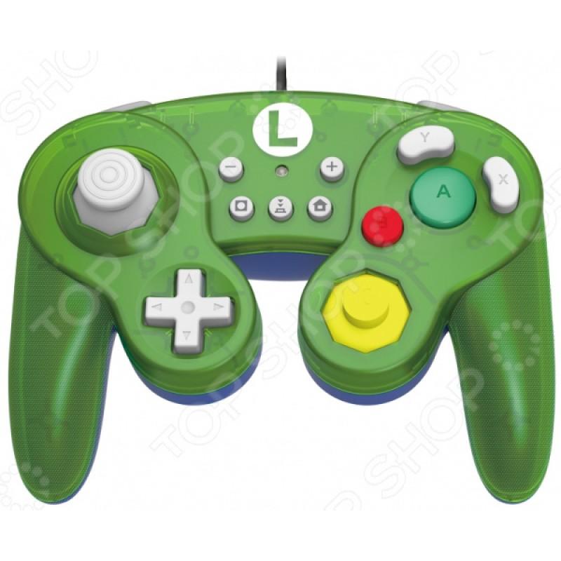Геймпад HORI Battle Pad. Luigi для Nintendo Switch