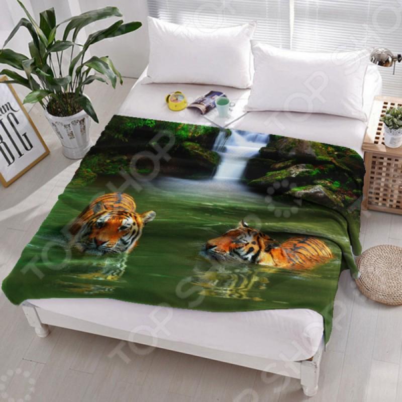 Плед флисовый ТамиТекс «Тигры в воде»