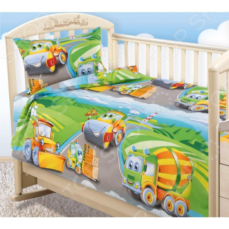Ясельный комплект постельного белья ТексДизайн «Дорожный патруль»
