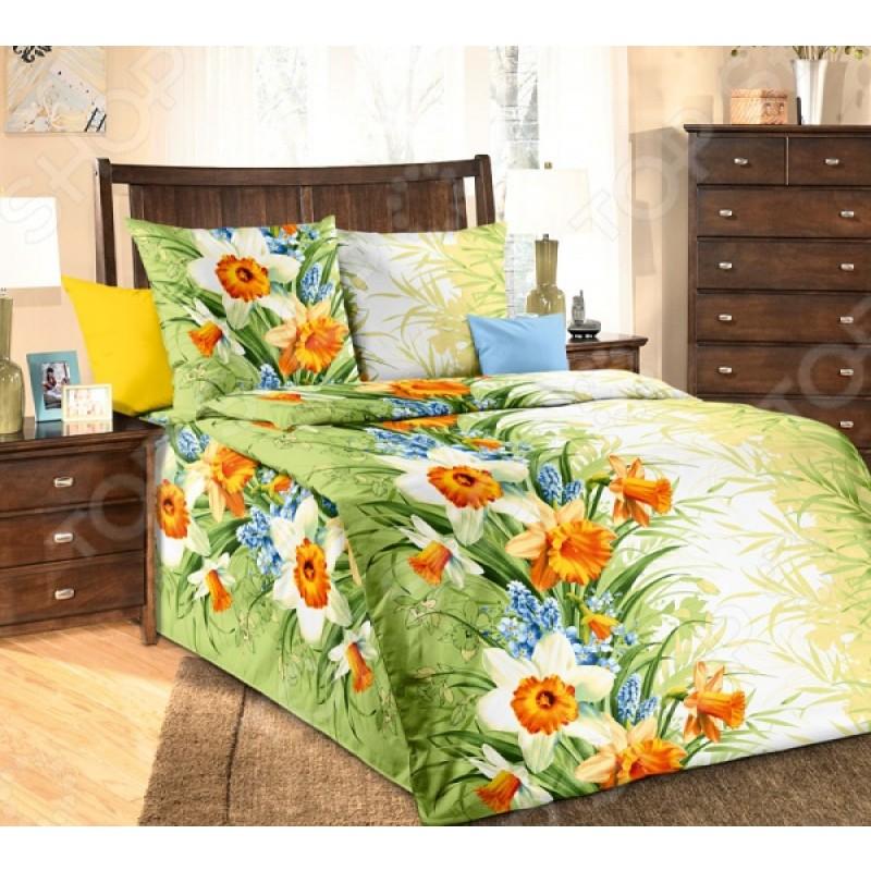 Комплект постельного белья Белиссимо «Весна». 1,5-спальный
