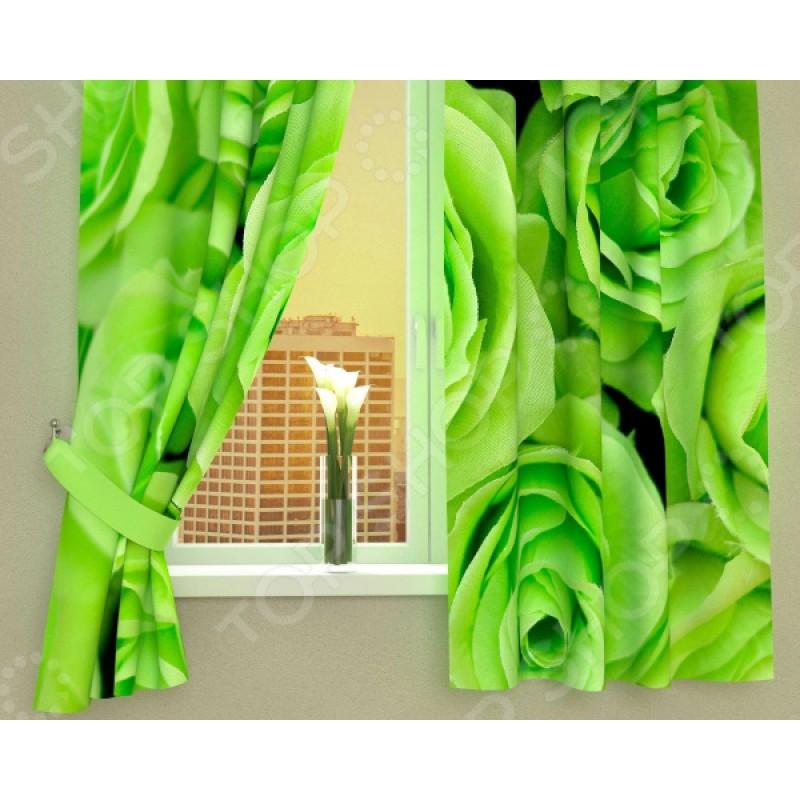 Фотошторы Сирень «Зеленые розы»