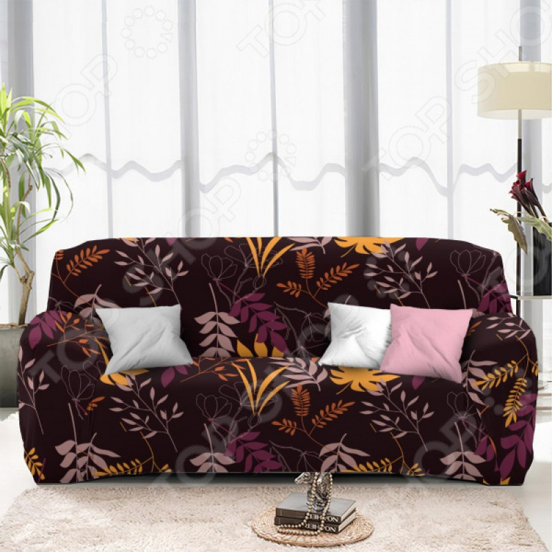 Чехол на двухместный диван «Листопад». Размер: 145х180 см