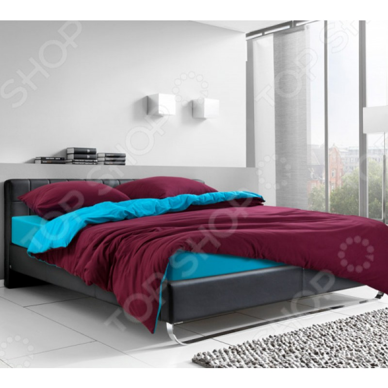 Комплект постельного белья ТексДизайн «Ледяной гранат». 1,5-спальный