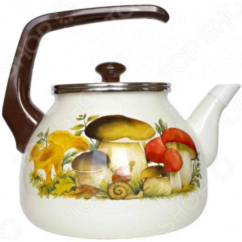 Чайник эмалированный Interos 15251 «Грибы»