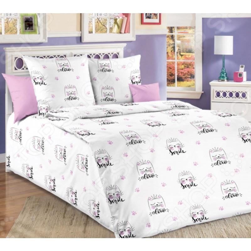 Детский комплект постельного белья ТексДизайн «Китти». 1,5-спальный
