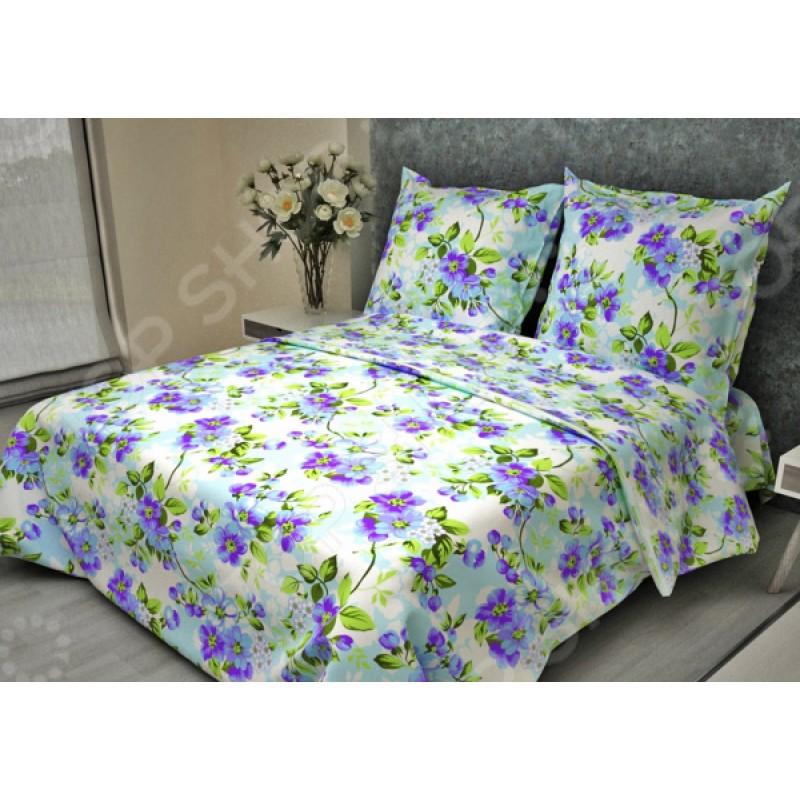 Комплект постельного белья Fiorelly «Яблоневый цвет голубой». 2-спальный