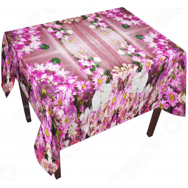 Скатерть ТамиТекс «Ламбрекен из цветов»