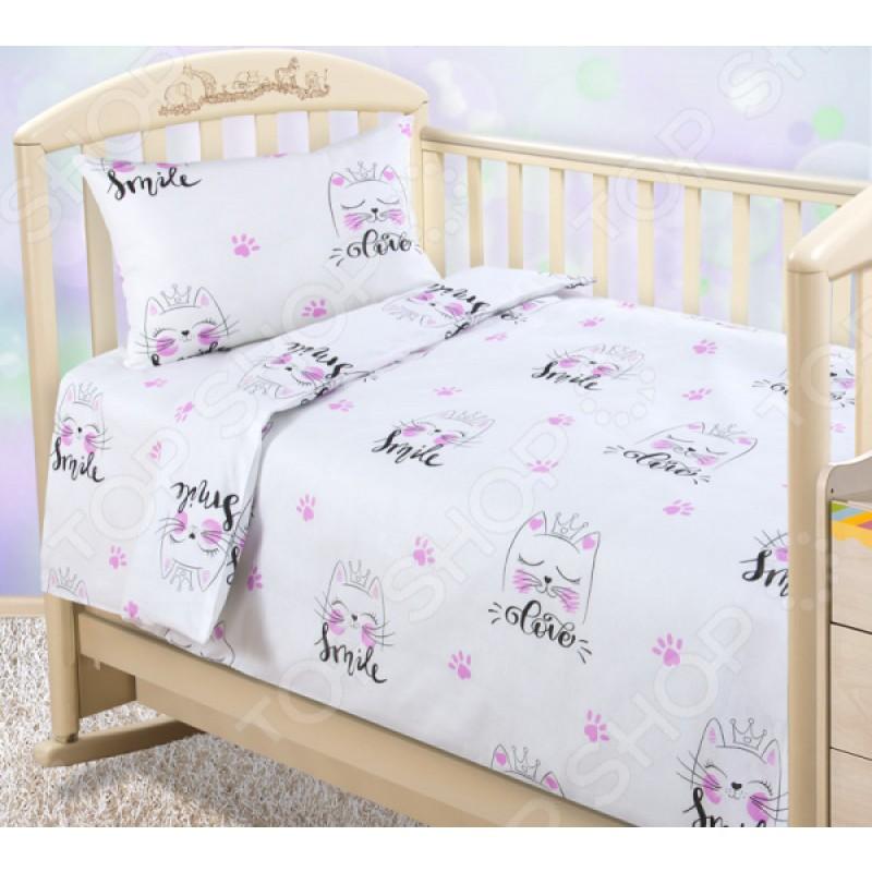 Ясельный комплект постельного белья ТексДизайн «Китти»